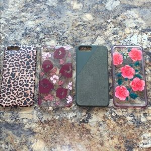 LOT OF 4 Iphone 7plus Super cute cases